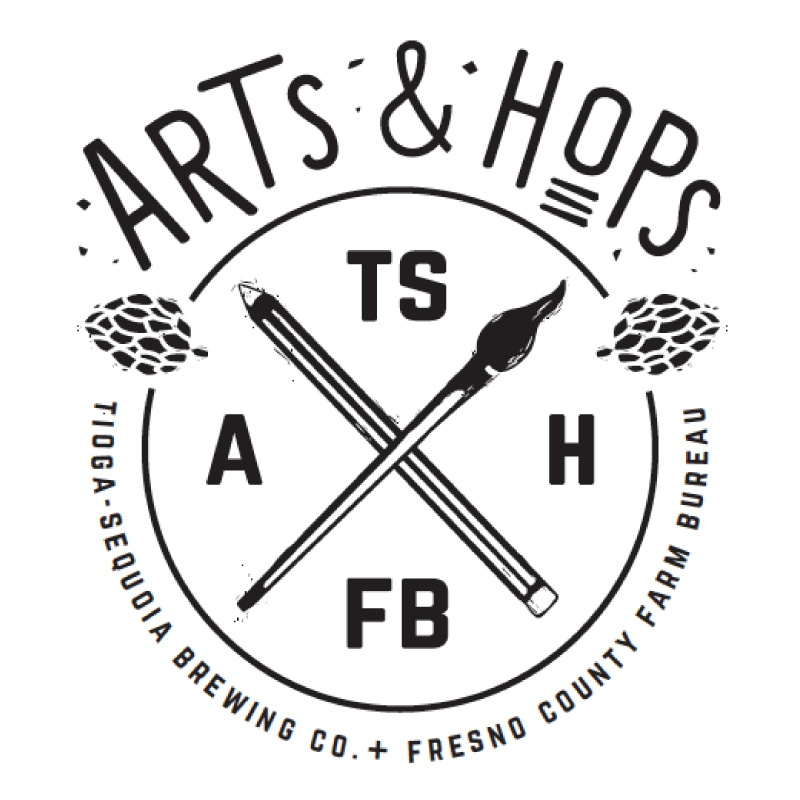 Arts & Hops in white