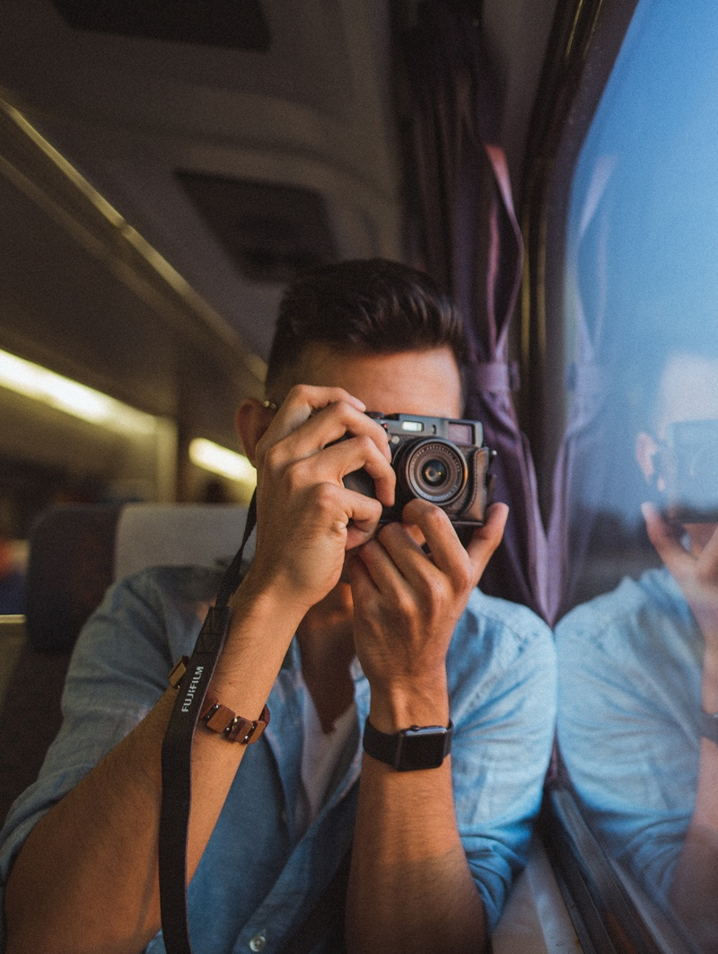 Taking Pictures on a Train